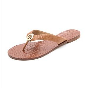 Tory Burch Thora Leather Flip Flop Sandals